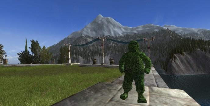 Sculpture végétale de Hobbit
