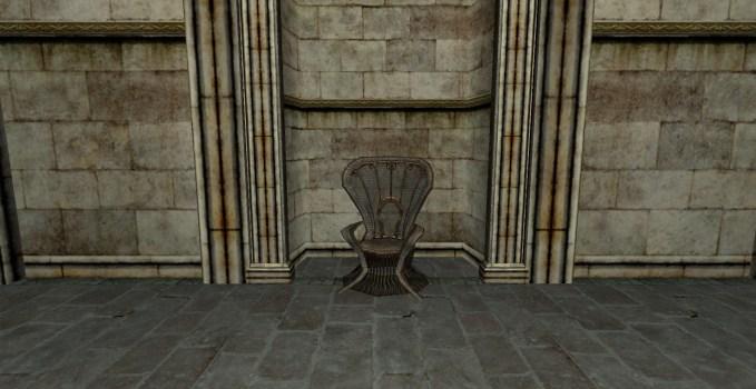 Chaise Blanche en Osier