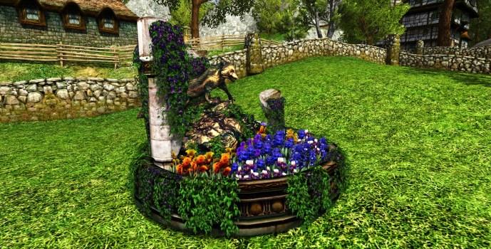 Renard parmi les fleurs