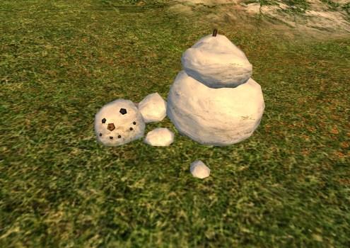 Bonhomme de Neige Défait