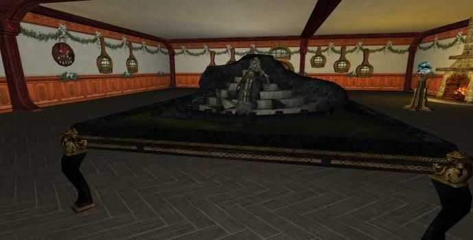 Maquette de Minas Tirith détruite
