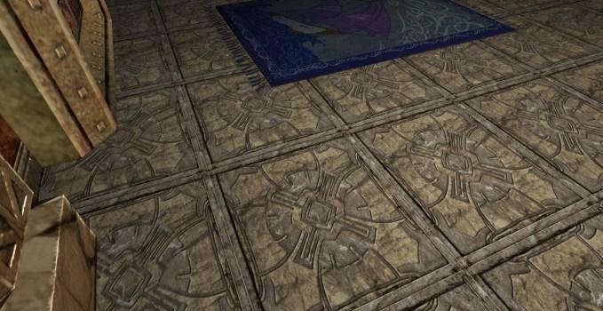 Plancher en dalles de Pierre Florales