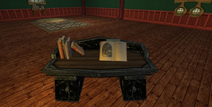 Bureau en Obsidienne des Nains (Obsidian Dwarf-make Desk)