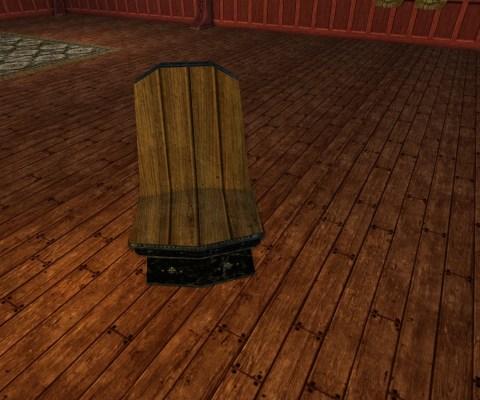 Chaise de Nain en Obsidienne (Obsidian Dwarf-make Chair)