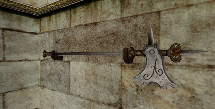 Hallebarde du Val Montée au Mur (Wall-Mounted Halberd of the Vales)
