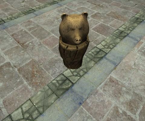 Buste d'Ours Sculpté (Carved Bear Bust)