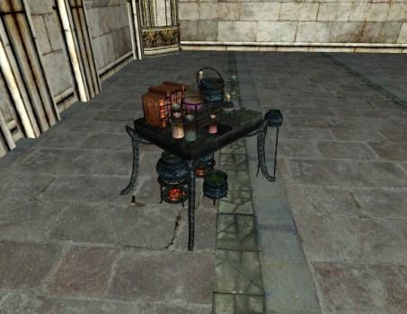 Petite table d'Alchimie