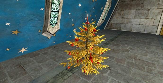 Arbre d'Or de Yule décoré
