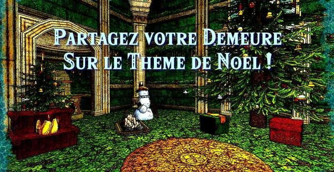 Partagez votre demeure sur le thème de Noël !