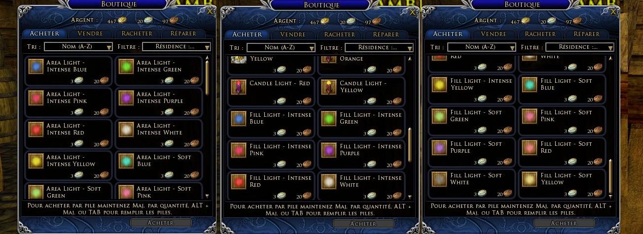 Vendeur de Lumières