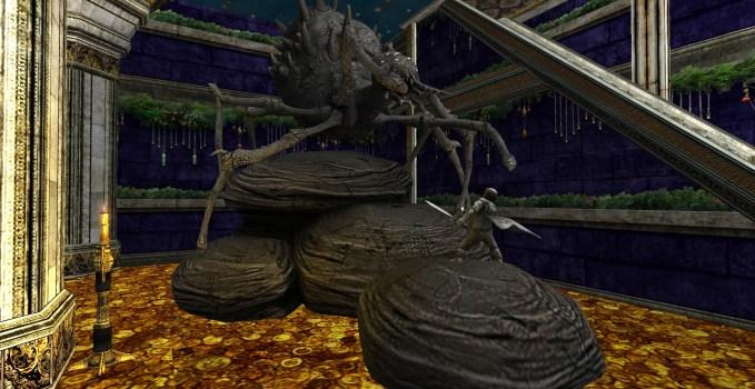 Statue d'Arachne