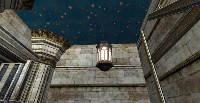 Lanterne suspendue décorée