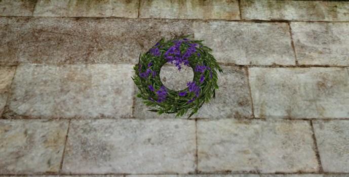 Couronne de Mariage Violette (Purple Wedding Wreath)