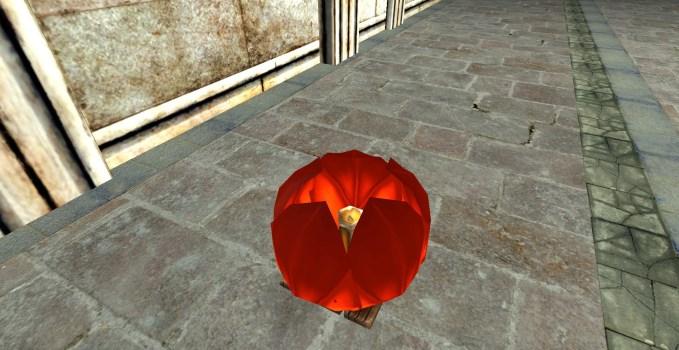 Lanterne Flottante Rouge – Fermée