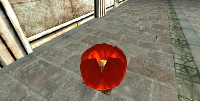 Lanterne Flottante Rouge – Fermée (Red Floating Lantern – Closed)