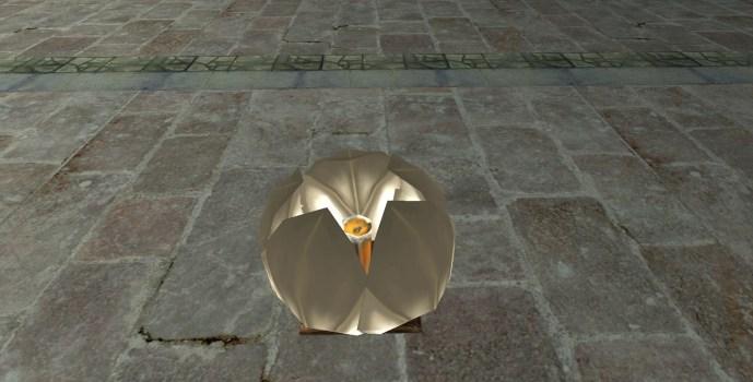 Lanterne Flottante Blanche – Fermée (White Floating Lantern – Closed)
