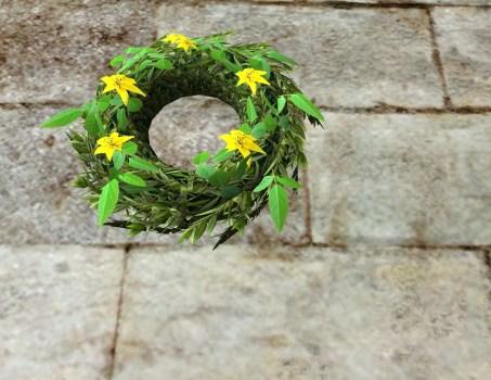 Couronne florale du Solstice d'été jaune