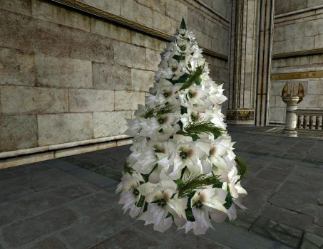 Poinsettias Blancs de Yule