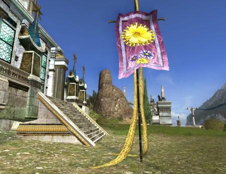 Bannière Violette de Fleurs Printanières