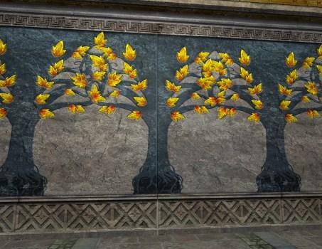 Mur de la Seconde Salle moucheté d'Or