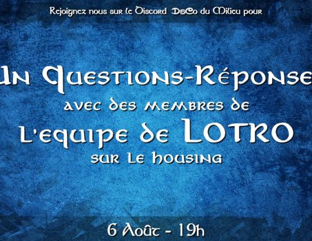 Q&R avec l'équipe LotRO sur Discord