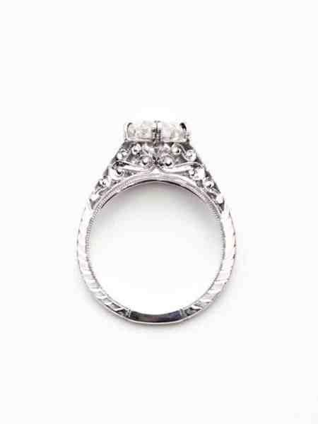 Vintage Filigree Diamond Ring 2