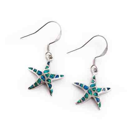 Opal Dancing Starfish Earrings 1
