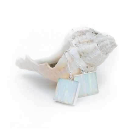 Opal Square Earrings 4