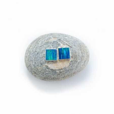 Opal Square Earrings 1