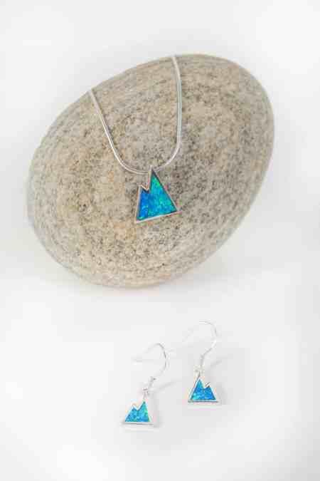Iridescent Opal Mountain Earrings 2