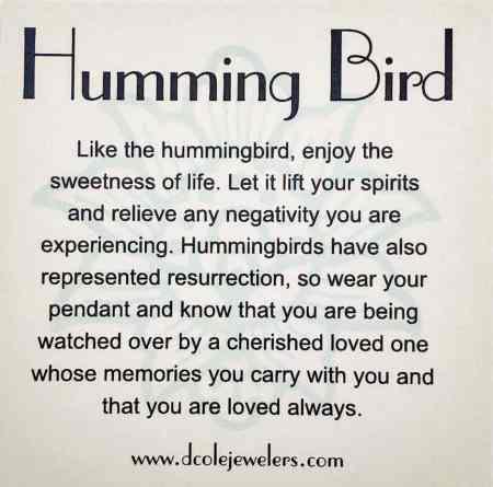 Hummingbird Pendant 2
