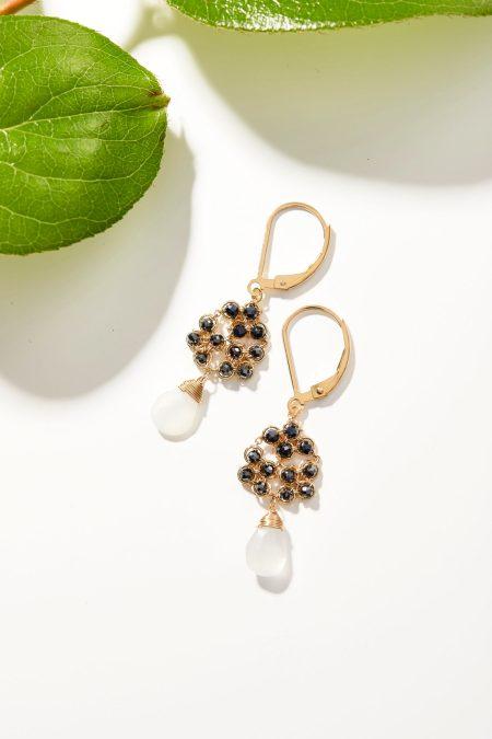 Hematite Honeycomb Earrings 1
