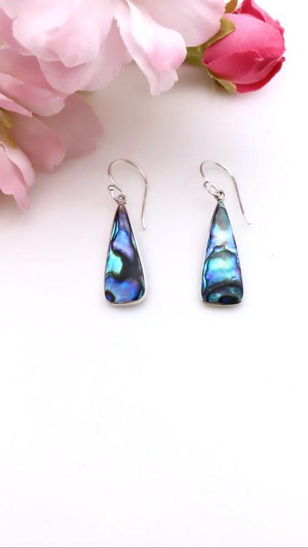 Teardrop Abalone Earrings 1