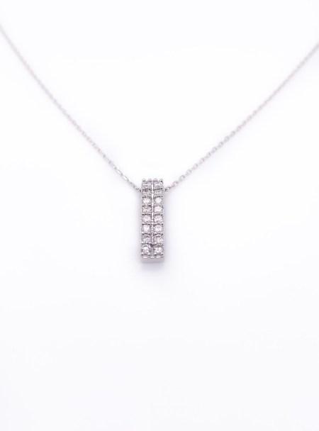 18k Diamond Double Column Necklace 2