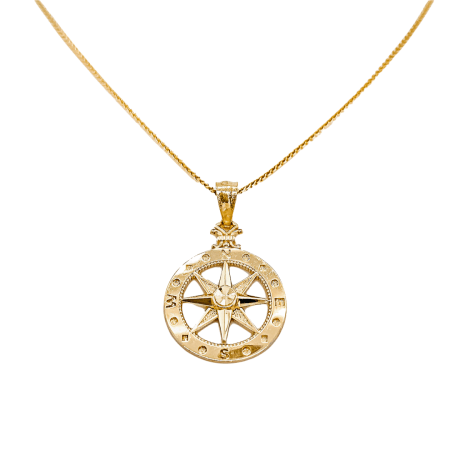14k Compass Rose Necklace 1