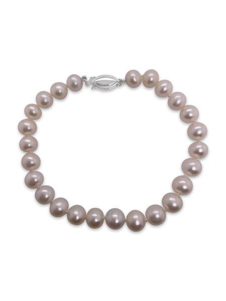 White Fresh Water Pearl Bracelet 1