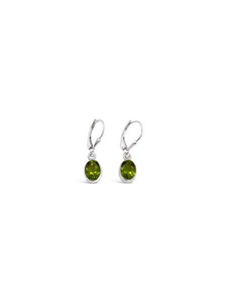 Oval Gemstone Earrings 3
