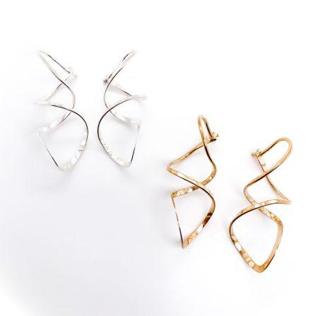 Corkscrew Hoop Earrings 1