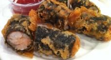 Rouleaux aux algues avec crevette et crabe