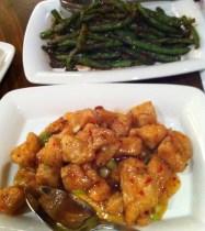 Haricots verts piquants et poulet piquant de Changs