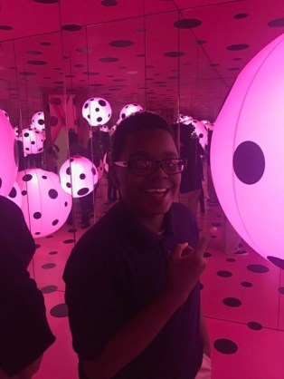 Field trip to see Yayoi Kusama's Infinity Mirrors exhibit.