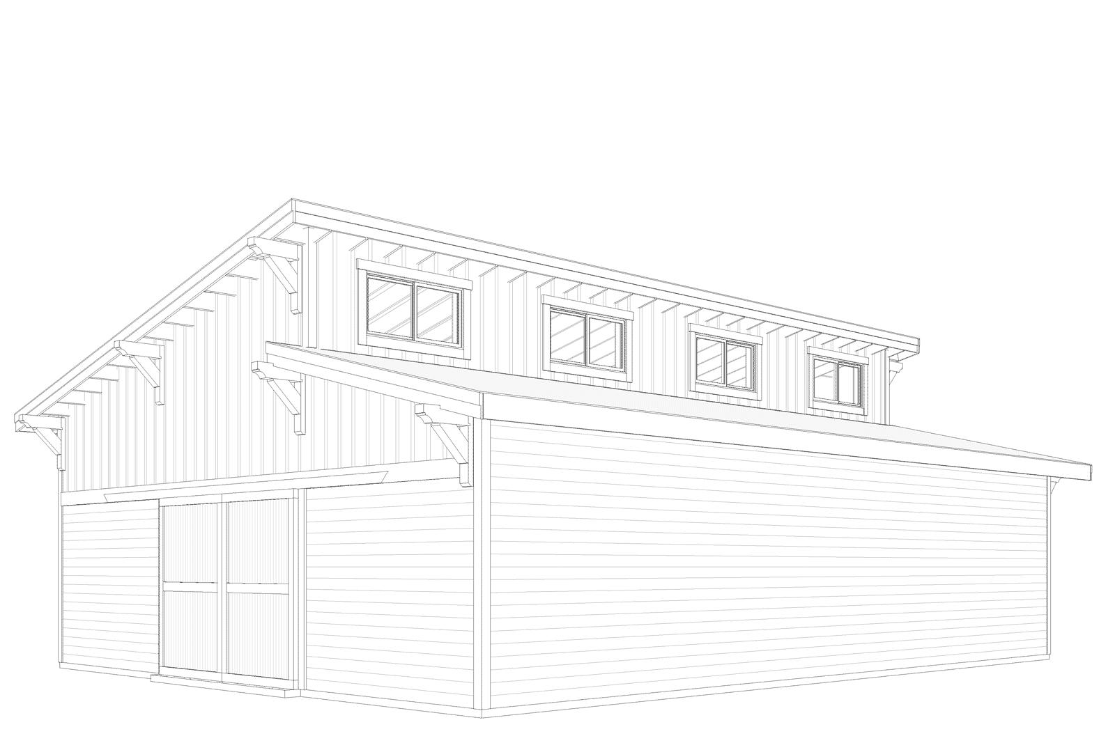 Brightwood Clerestory Barn Kit 48