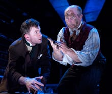 Jeffries Thaiss as Alfred Wallace and Ian LeValley as Charles Darwin (Photo: Stan Barouh)