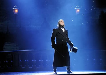 Andrew Varela as Javert in the 25th anniversary tour of Les Miserables