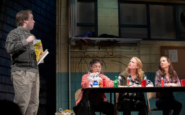 L to R) Michael Glenn as Stevie, Rosemary Knower as Dottie, Johanna Day as Margie and Amy McWilliams as Jean  (Photo: Margot Schulman)