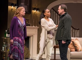 (l-r) Johanna Day as Margie, Francesca Choy-Kee as Kate and Andrew Long as Mike (Photo: Margot Schulman)