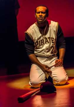 Modesto Lacén as Roberto Clemente                  (Photo: Lonnie Tague)