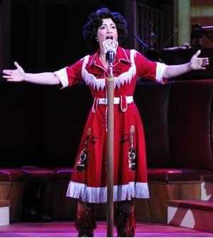 Jenny Lee Stern as Patsy Cline (Photo courtesy of Infinity Theatre)