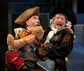 Michael John Casey as Smee and James Konicek as Captain Hook (Photo: Margot Schulman)