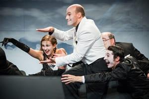 (l-r) Caroline Wolfson, Armand Sindoni, Michael Miyazaki, and Tony Strowd  (Photo: Mason Summers)